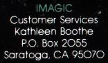 Rev. A Back Cover (Green 'IMAGIC' in Customer Services Text)
