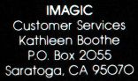 Rev. B Back Cover (White 'IMAGIC' in Customer Services Text)