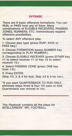 NFL Football Playbook - Offense (rev. B)