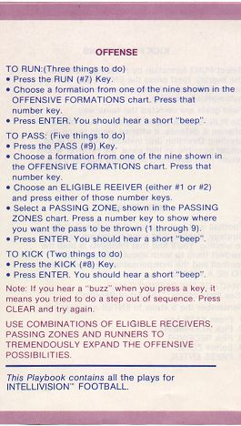 NFL Football playbook - Offense (rev. C)