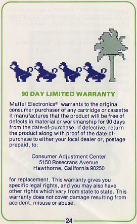 Warranty Info (0riginal)